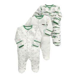 76ce34bb504b 3Pcs lot Baby Girls Boy Footies 1 Years Long Sleeve Pajamas Newborn Clothes  Unisex Onesie Cotton Infant Jumpsuit Toddler Costume
