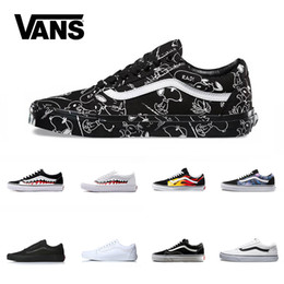 Blue flame shoes online shopping - Vans Old Skool Men Women Casual Shoes  Rock Flame Yacht b063b0d81