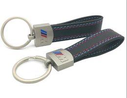 $enCountryForm.capitalKeyWord Australia - Fashoin Metal+Leather Keychain Key Chain Key Ring Keyring For BMW M Tech M Sport M3 M5 X1 X3 E46 E39 E60