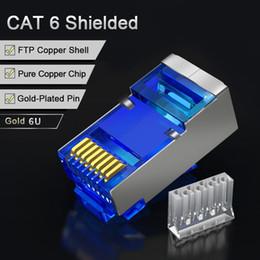 $enCountryForm.capitalKeyWord Australia - SAMZHE Cat6 RJ45 Connector 8P8C Modular Lan Cable Head Plug 50Pcs 30Pcs 100Psc Cat 6 Crimp Network RJ 45 Connector for Ethernet
