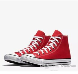 HigH top sneakers brands online shopping - Drop Shipping Brand New Colors All Size High Top sports stars Low Top Classic Canvas Shoe Sneakers Men s Women s Casual Shoes