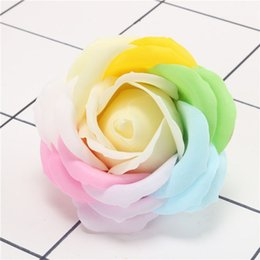$enCountryForm.capitalKeyWord Australia - artificial soap colorful rose flower head 5 layer rose flower head simualtion fake rose head soap colorful wreath for valentine's gift box
