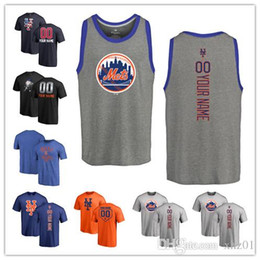 706a2fab6c7 Custom Men s women Youth NY Mets Baseball T Shirt Personalized Name and  Number Banner Wave Baseball T-Shirt Tri-Blend Tank Top Jerseys