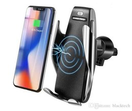 S5 Smart Sensor Car Wireless Charger 60% Off-automatic Clamping Wireless Car Charger Mount for iphone 8 x 11 samsung s9 s10 hot sale from transformer chargers suppliers