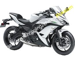 Plastic Er Australia - For Kawasaki Ninja 650R ER 6F 2017 2018 ER-6F ER6F 650 17 18 White Black Aftermarket Motorcycle Fairing (Injection molding)