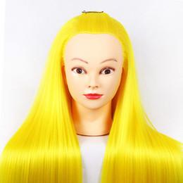 $enCountryForm.capitalKeyWord Australia - Beauty Salon Mannequin Head With Yaki Synthetic Hair Training Head Hairdressing Practice Perm Edit and Release Display