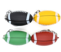 metal smoking pipe tube NZ - Newest Colorful Hand Pipe Metal Pipe Keychain Football Shape Mini Smoking Tobacco Cigarette Pipes Tube Easy to Carry