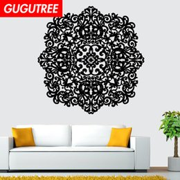 chinese famous paintings Australia - Decorate Home India Buddhism mandala flower art wall sticker decoration Decals mural painting Removable Decor Wallpaper G-1110