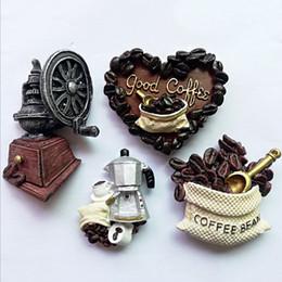 $enCountryForm.capitalKeyWord UK - Retro Fridge Magnet Love Moose Head Eagle Coffee Three-dimensional Resin Refrigerator Decoration Stickers for Home Kitchen