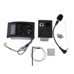 guitar microphones UK - 5-Band EQ Equalizer Acoustic Guitar Piezo Pickup Tuner with Battery Case and Microphone