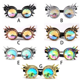 Discount cosplay goggles - New Vintage Steampunk Glasses Retro Punk Gothic Cosplay Goggles Halloween Cosplay Decor Supplies Rave Fashion Glasses