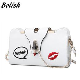 $enCountryForm.capitalKeyWord Australia - Bolish Brand New Korean Embroidery Lock Small Lipstick Simple Shoulder Bag Chain Strap Messenger Bag Fashion Women Bag
