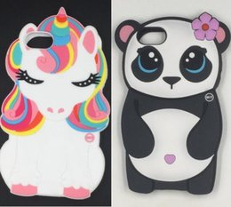 3d panda cover UK - New 3D cartoon Melody Rainbow Horse panda soft silicone phone case cover for iphone 11 pro X XR XS MAX 6S 7 8 plus
