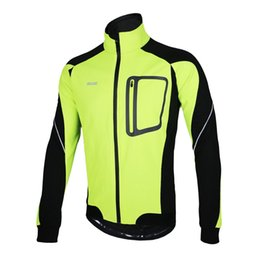 Winter Cycling Yellow Australia - Winter Warm Thermal Cycling Long Sleeve Jacket Bicycle Clothing Windproof Jersey MTB Mountain Bike Jacket Y1302GR-3XL