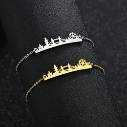 Pattern Decor Australia - Europe Trendy Jewelry Decor England London Bridge Landscape Pattern Bracelet fashion