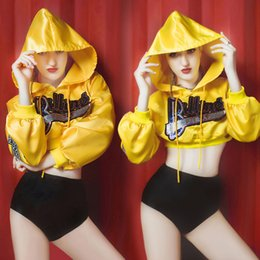 HipHop dance costumes online shopping - Sexy Stage Ds Bar Dance Costumes for Singer Dj Lead Costumes Hiphop Workout Jacket Tops