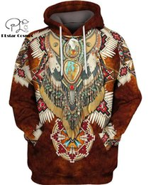 indian hoodies UK - Native Indian 3D Hoodies sweatshirts Tee Men Women New Fashion Hooded winter Autumn Long Sleeve streetwear Pullover Style-4 T200618