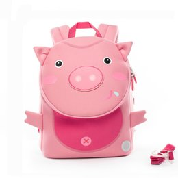 Backpack Zoo Canada - 2019 Factory Cocomilo Kids Kindergarten Girls Boys School Bags Children Waterproof Cute 3d Pig Backpack Zoo Anti-lost School Bag