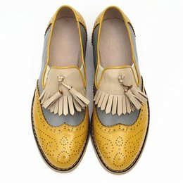 SneakerS Shoe for femaleS online shopping - Women oxford Spring shoes genuine leather loafers for woman sneakers female oxfords ladies tassel single shoes summer
