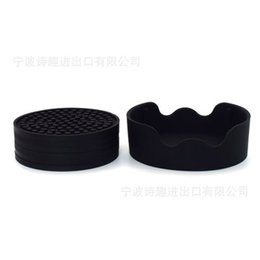 $enCountryForm.capitalKeyWord Australia - Silicone Drink Coasters with Holder for Coffee Mug Cup Glass Antislip Table Placement Dishwasher Safe Pad ZJ0049