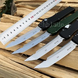 Tactical Defense Gear Australia - 100% OEM Halo V Tanto Automatic Knife single action auto Tactical knife Survival gear knives with kydex sheath Self-defense Tools