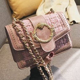 Ladies Lace Handbags Australia - 2019 Winter Fashion New Women's Designer Handbag High Quality Woolen Lady Square Bag Chain Shoulder Messenger Bag Crossbody Bag