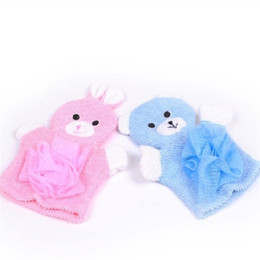 $enCountryForm.capitalKeyWord UK - Cartoon Bath Glove Children Two Sided Thickening Bathing Towel Blue Yellow Green Duck Daily Necessities Washcloth New Arrival 3 5hs L1