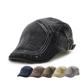 Vintage cowboy hats wholesale online shopping - JAMONT Embroidery Beret Man Aged Leisure Casual Casquette England Style Peaked Hat Vintage Colours Wild Joker rh D1