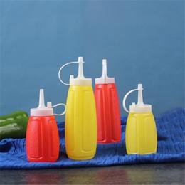 Discount sauce squeeze bottles - 200 300 400ML Condiment Sauce Bottles Plastic Squeeze Bottle Ketchup Salad Cruet Bin Oil Vinegar Bottle Kitchen Accessor