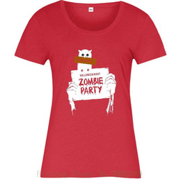 $enCountryForm.capitalKeyWord UK - Zombie Party T Shirt , Halloween Night Trick Or Treat Inspired Spoof Ladies Top Tshirt Hipster Cool O Neck Tops