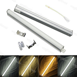 Wholesale LED Tube T5 30CM 24PCS SMD2835 Cold Warm White Fluorescent T5 Integrated Light Aluminium For Supermarket Exhibition Container DHL