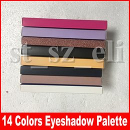 Wholesale Hot Makeup stripe modern eye shadow Palette 14 colors limited eye shadow palette with brush eyeshadow palette 8 styles