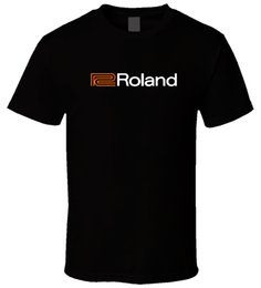 Chinese  Roland Piano Organs 4 Black T ShirtFunny free shipping Unisex Casual Tshirt manufacturers