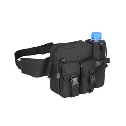fanny pack water bottle UK - Tactical Fanny Packs With Water Bottle Pocket Holder, Waterproof Molle Waist Bag for Cycling Hiking Camping Hunting Fishing Traveling