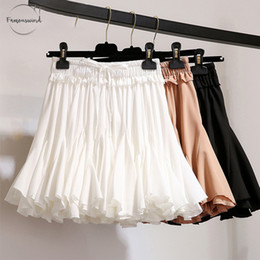 Mini tutus online shopping - White Black Summer Shorts Skirt Women Fashion Korean High Waist Tutu Pleated Chiffon Mini Sun School Skirt Female