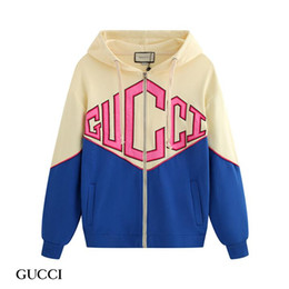 Wholesale vintage hip hop hoodie online – oversize 2019 Luxury Vintage designer hoodies Alphabet print Sweatshirt Casual Women Men Hooded Streetwear Guess hop hip zipper cardigan and sweater