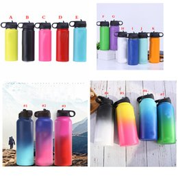 $enCountryForm.capitalKeyWord Australia - 18colors 18oz 32oz 40oz Gradient Vacuum Insulated Bottle 304 Stainless Steel Water Bottle Wide Mouth Big Capacity Travel Mugs with lids
