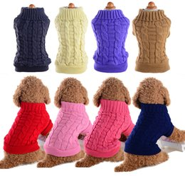 $enCountryForm.capitalKeyWord Australia - Pet Dog Clothes Winter Chihuahua Puppy Dog Coat Pet Winter Woolen Sweater Knitwear Clothing For Dog Roupas Para Cachorro