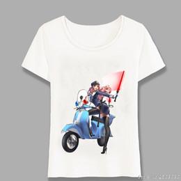 hot sexy girls t shirts 2019 - 2019 Hot Sell New Fashion Vespa Vintage Motorcycle Anime Girls Sexy Printed Women Hip Hop T Shirt Tees women's Clot