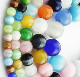 cats eye stone bracelet NZ - 6mm=66pcs strand mix colors cat eye Beads gemstone Loose Beads Semi Precious Stone For bracelet necklace DIY JEWELRY MAKING