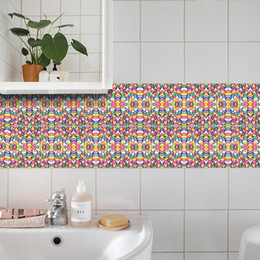 Tiles Design For Kitchen Wall Australia - Kitchen Room Bathroom WC Floor Tile Wall Sticker Home Decor Wall Mural Poster Art Waterproof Self-adhesive Wall Decal Creative Applique