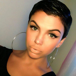 Pretty Hair For Australia - Burmese Hair Short Black Cut human hair wigs for Black Women Freely Making Texture Pixie Cut wigs Soft And Pretty Wigs
