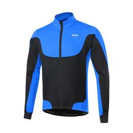 Arsuxeo uomo in bicicletta giacche antivento in pile Giacca con giacca invernale bicicletta Sport Coat equitazione lungo Maglia manica in Offerta