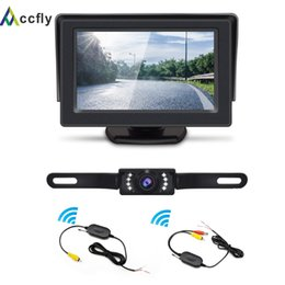 TfT lcd camera online shopping - ACCFLY Wireless Backup Camera Kit Waterproof License Plate Reverse Rear View Back Up Car Camera TFT LCD Rearview Monitor