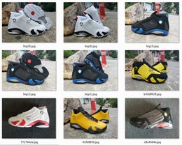 $enCountryForm.capitalKeyWord Australia - New 14 14s Sup White Black Royal Candy Cane Black Toe Fusion Varsity Red Suede Men Basketball Shoes Last Shot Black Yellow Sneakers With Box