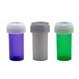 containers bottles boxes 2019 - 13 Dram Push Down & Turn Vial Container Acrylic Plastic Stroage Stash Jar Pill Bottle Case Box Herb Container Smoking Wa