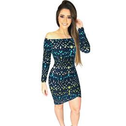 7821a31d3ce9 Off Shoulder Dress Fur UK - Sexy Women Off Shoulder Dress Vintage Flower  Print Long Sleeve
