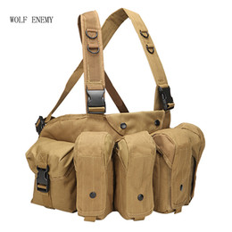 $enCountryForm.capitalKeyWord NZ - Outdoor Magazine Carrier Combat Camouflage Tactical Vest Ammo Chest Rig