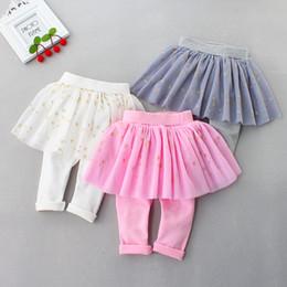Culottes Leggings Australia - 2019 hot Promation baby Girl pants Kids Skirt Princess Culottes Leggings Gauze Pants Party Skirts Tutu Skirt free drop shipping