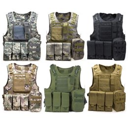 tactical combat vest black 2019 - Amphibious Tactical Molle Waistcoat Combat Assault Plate Carrier Vest cheap tactical combat vest black